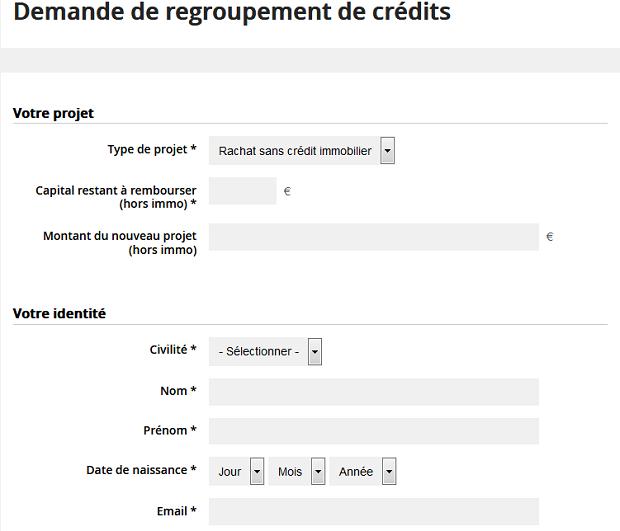 Simulateur rachat de crédit Carrefour Banque