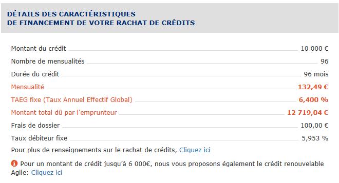simulateur rachat de crédit sofinco